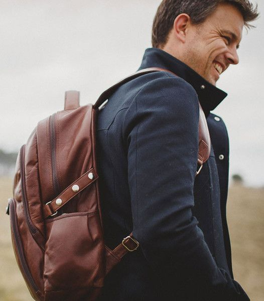 Henk Berg | Ciaran backpack |  Vegetable tanned leather #vegetabletannedleather #mensbackpack #henkberg