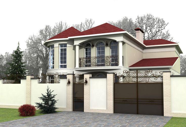 Фасад дома и забор