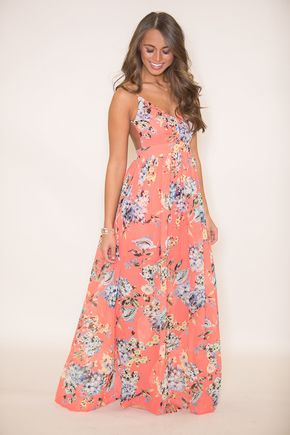 28318844d9 Heaven On Earth Maxi Dress Coral