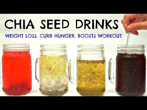 Chia Seed Drinks for Weight Loss & Curb Hunger