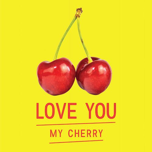 My Cherry love card for Kinky Rhino Greeting Cards in South Africa #greetingcard #southafricancard #southafrica #card #cherries #cherry #lovecard #valentines #food #south