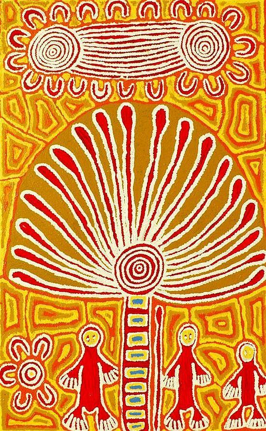Linda Syddick Napaltjarri, Sulky Man Dreaming, acrylic on linen, 161x 100 cm.