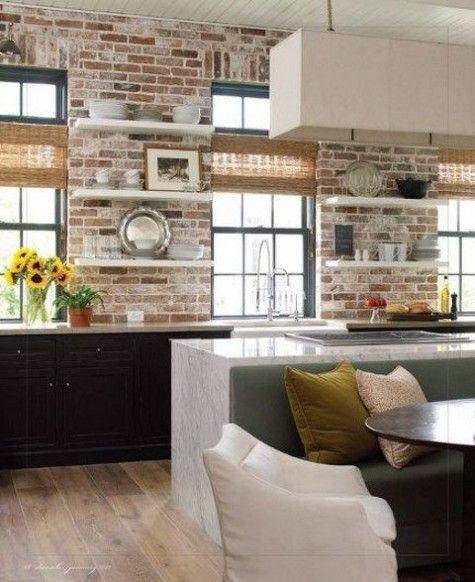 287 besten Küche Bilder auf Pinterest Wohnen, Altholz Küche und - unbehandelte ziegelwand