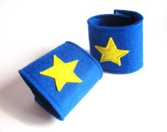 Items similar to Superhero Cuffs - Felt Wrist Cuffs - Superhero Power Cuffs - Power Bands - Superhero Dress Up - Superhero Fancy Dress - Superhero Party on Etsy