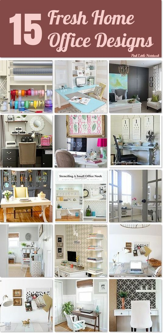 15 Fresh Home Office Designs ~ perfect for a new look without spending a lot of money