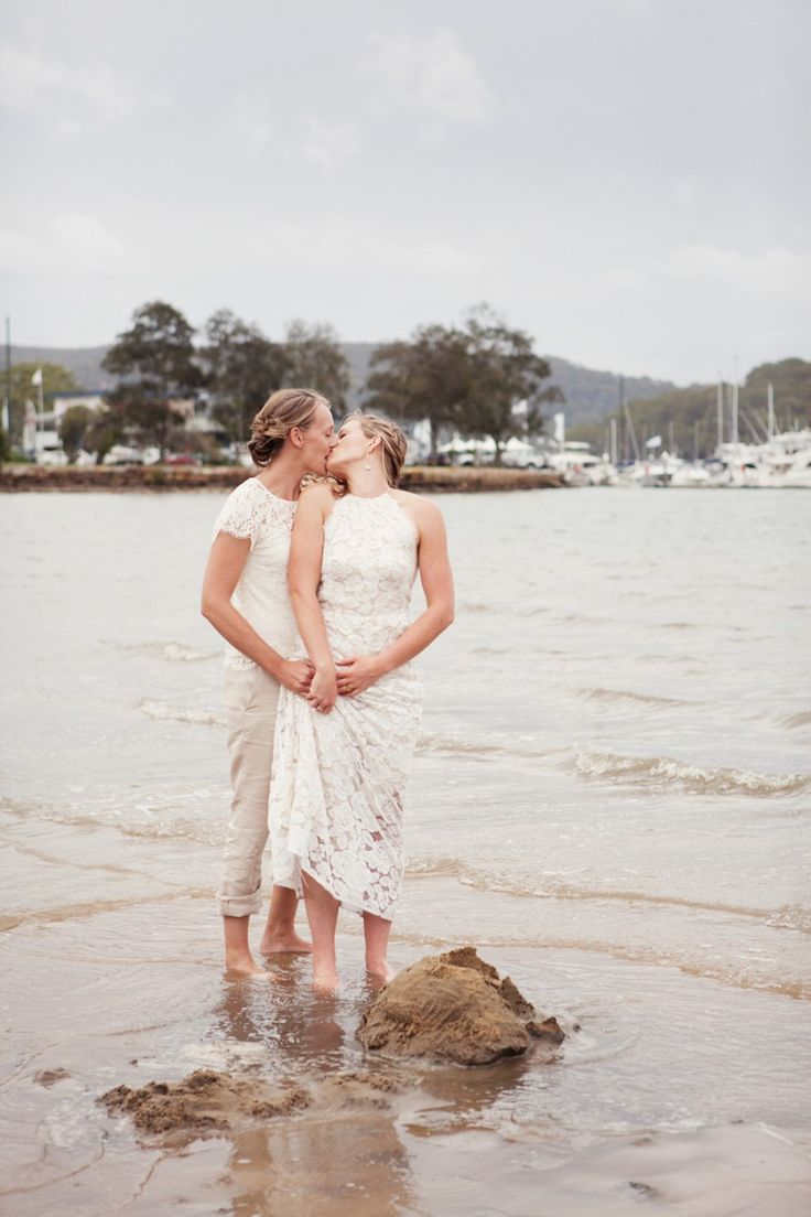 Sydney waterside wedding at Bayview Yacht Racing Association | Brides wear Lover and Alannah Hill