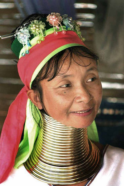 """Thailand: Hill Tribes. In Thailand they would say she's from the: """"Long Neck Tribe..."""""""