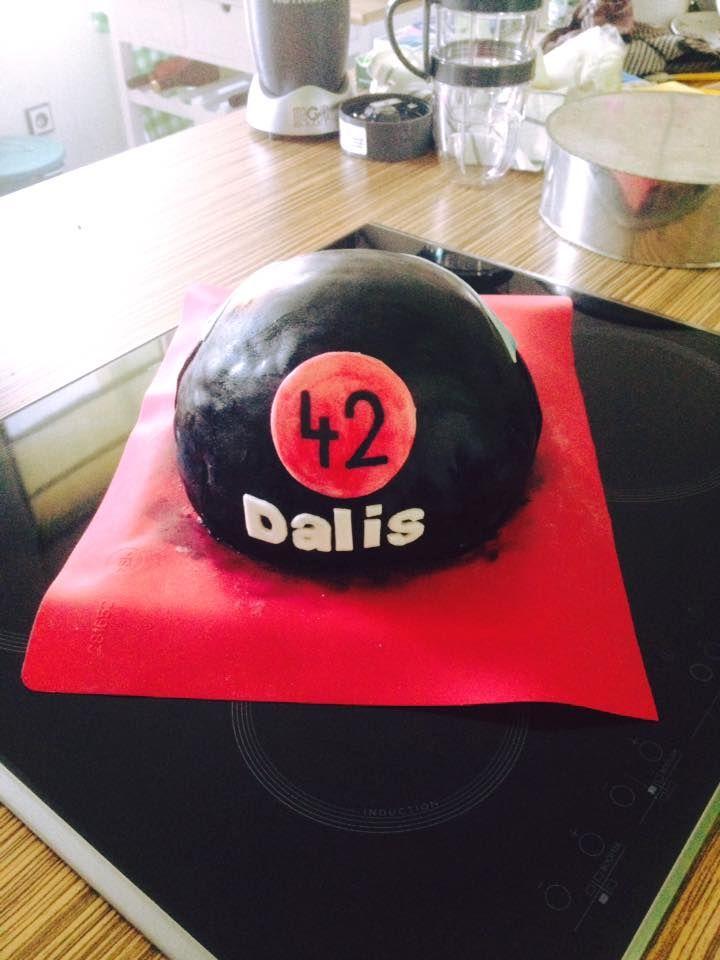 "Cake ""Helmet Kawasaki"""