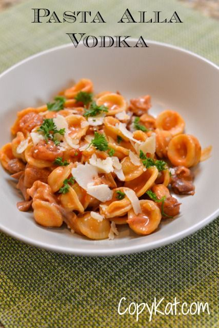 Pasta Alla Vodka Sauce. Perfect answer to dinner and only takes minutes to make. CopyKat.com.