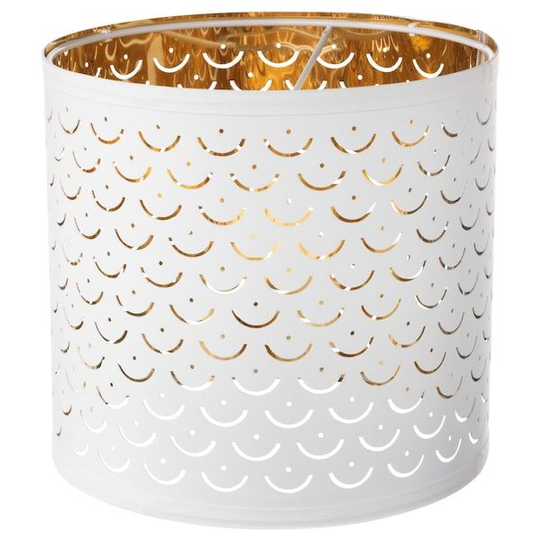NYMÖ Lampskärm vit, mässingsfärgad 24 cm | Lampor, Ikea