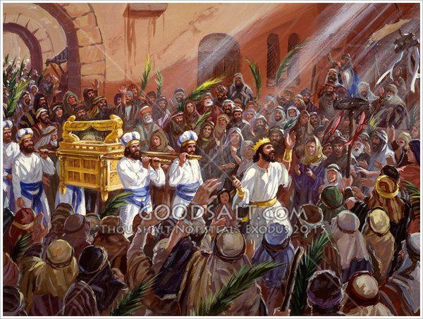 King David Brings The Ark To Jerusalem King David Ark Painting