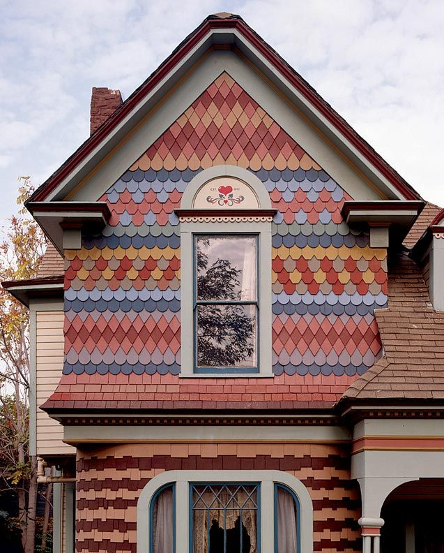 25 best images about gable ideas on pinterest queen for Victorian shingles