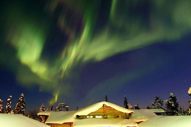 aurora in Ruka, northern Finland