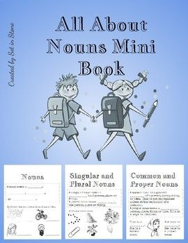 Teach students about nouns, proper nouns, common nouns, singular nouns, and plural nouns.    Create a small mini book for students to take home or glue into your interactive notebook.  Prints in black and white.