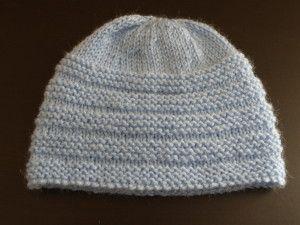 patron tricot bonnet bebe naissance