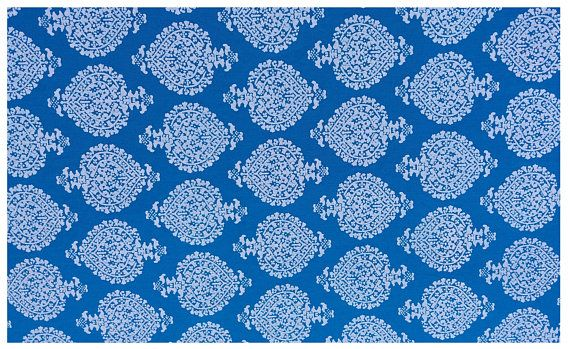5 yards blue Block print Fabric,Indian Cotton Fabric,Leaf Print Fabric,Cotton Print Fabric ,Sanganer Print ,Block Print Fabric #051