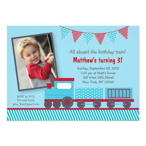 397 best Train Birthday Party Invitations images – Choo Choo Train Birthday Invitations