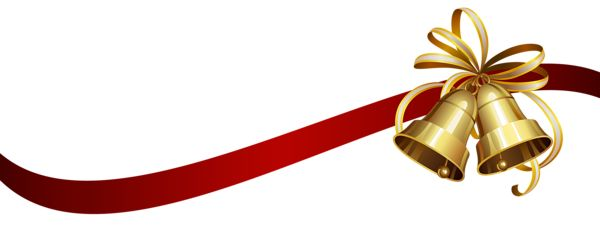 Christmas Bells with Ribbon Transparent PNG Clip Art Image ...