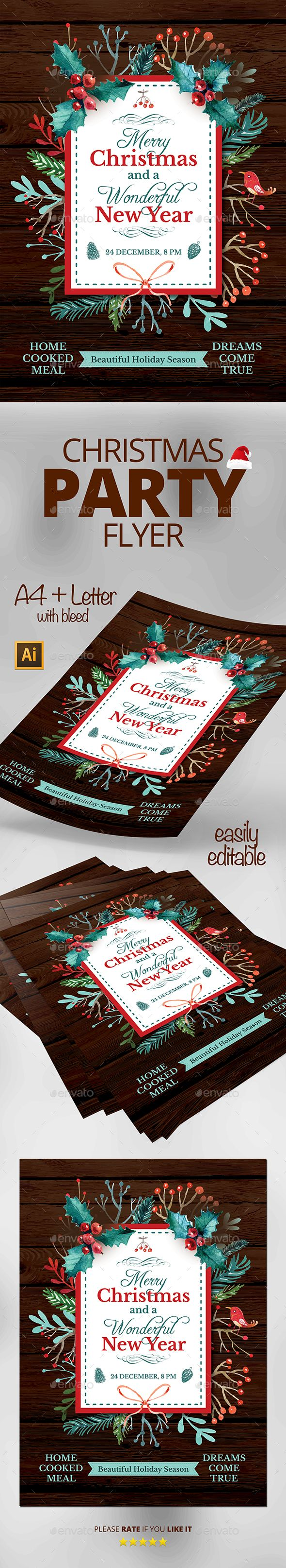 Christmas Flyer Template PSD #design Download: http://graphicriver.net/item/christmas-flyer/13616191?ref=ksioks