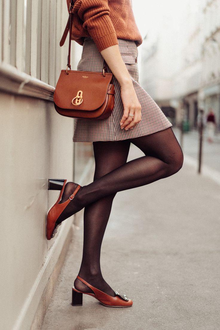 Comment je porte la slingback en automne sans avoir froid — Mode and The City | Mode, S'habiller en noir, Mode parisienne