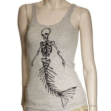 Dead Mermaid Rib Tank Womens by T. Rains