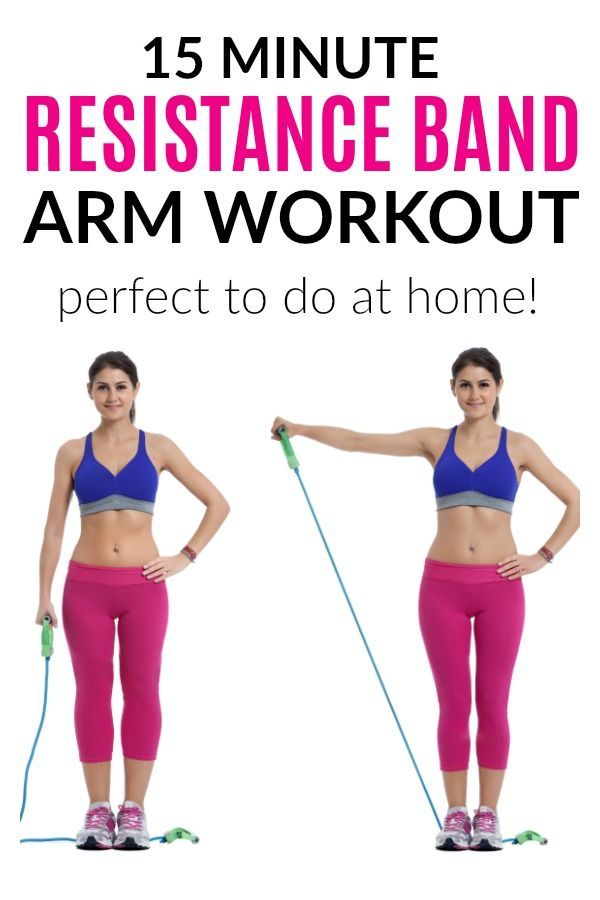 15 Minute Resistance Band Arm Workout On Tone And Tighten Com