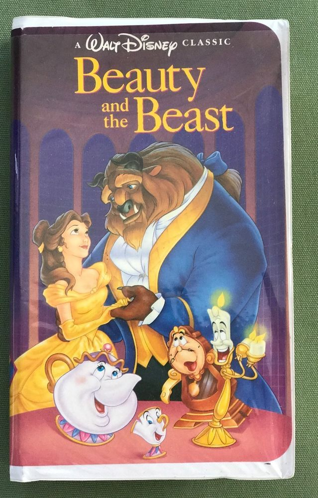 Beauty & The Beast BLACK DIAMOND Classic Disney VHS w/ Case Excellent Tested VGC