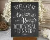 Image result for rehearsal dinner signs