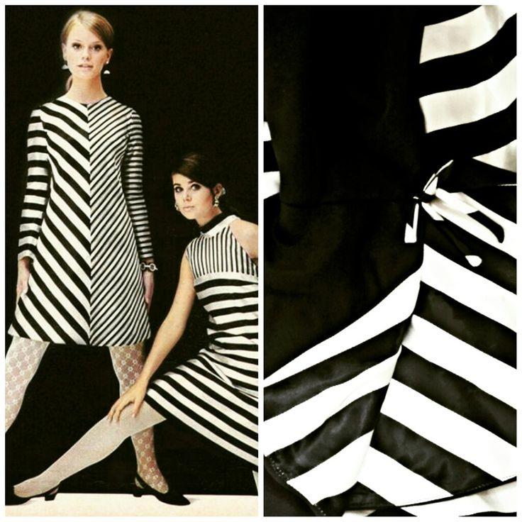 1967 #optical dress from our #fashionarchives   #fashionmuseum #opart #arte #storiadellamoda #museodellamoda #fashionmuseum #historyoffashion #60sfashion #swinginglondon
