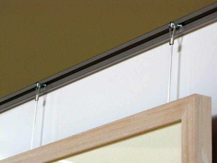 27 best art hanging systems images on pinterest picture. Black Bedroom Furniture Sets. Home Design Ideas