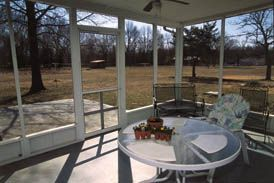 Great how-to for building screened porch on an existing concrete slab