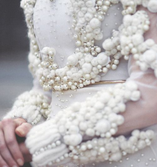 pearls & fabric manipulation