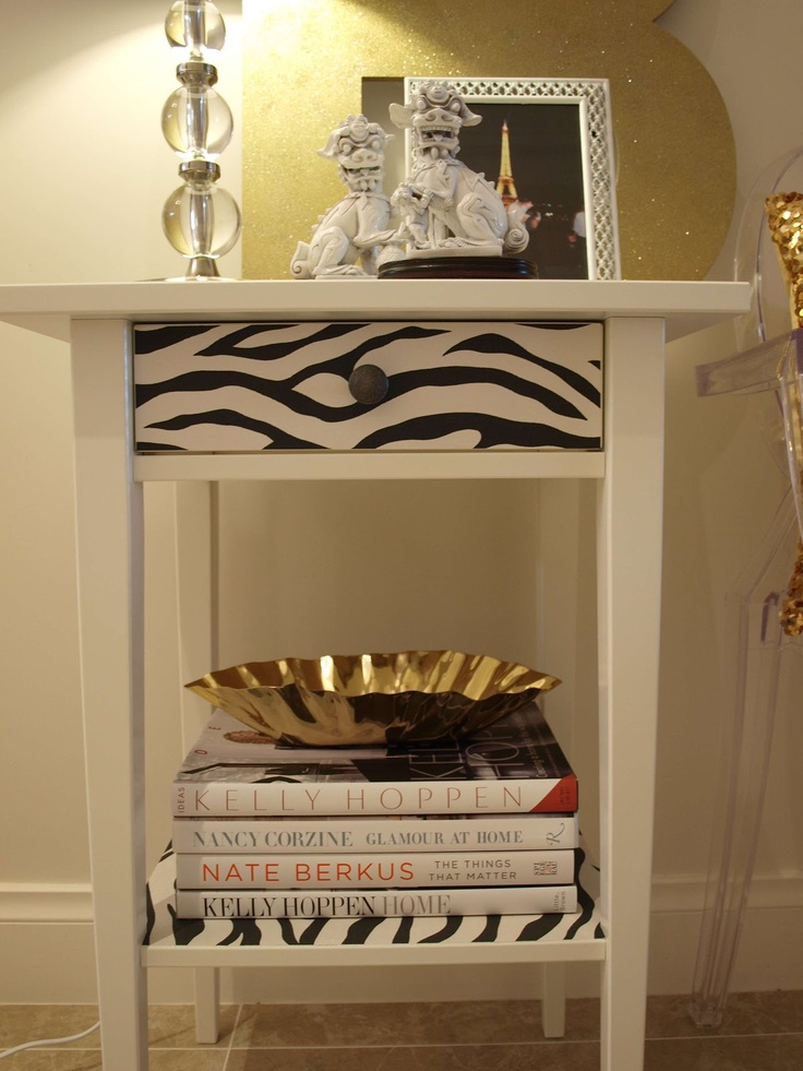 Luxe Addition Ikea Hemnes bedside table Hack now a side table