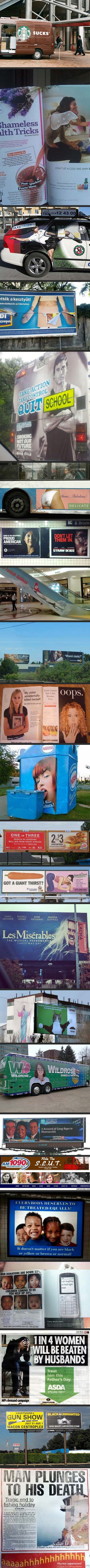23 unfortunate advertising placements