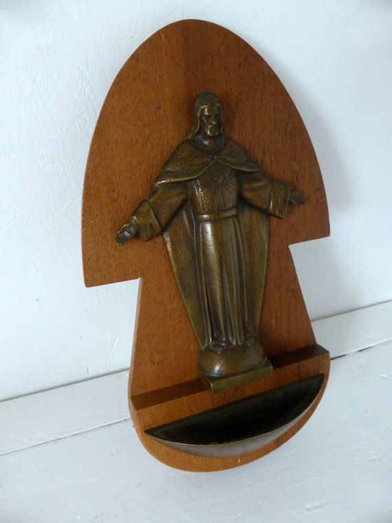 Vintage French Benitier, Holy Water Font