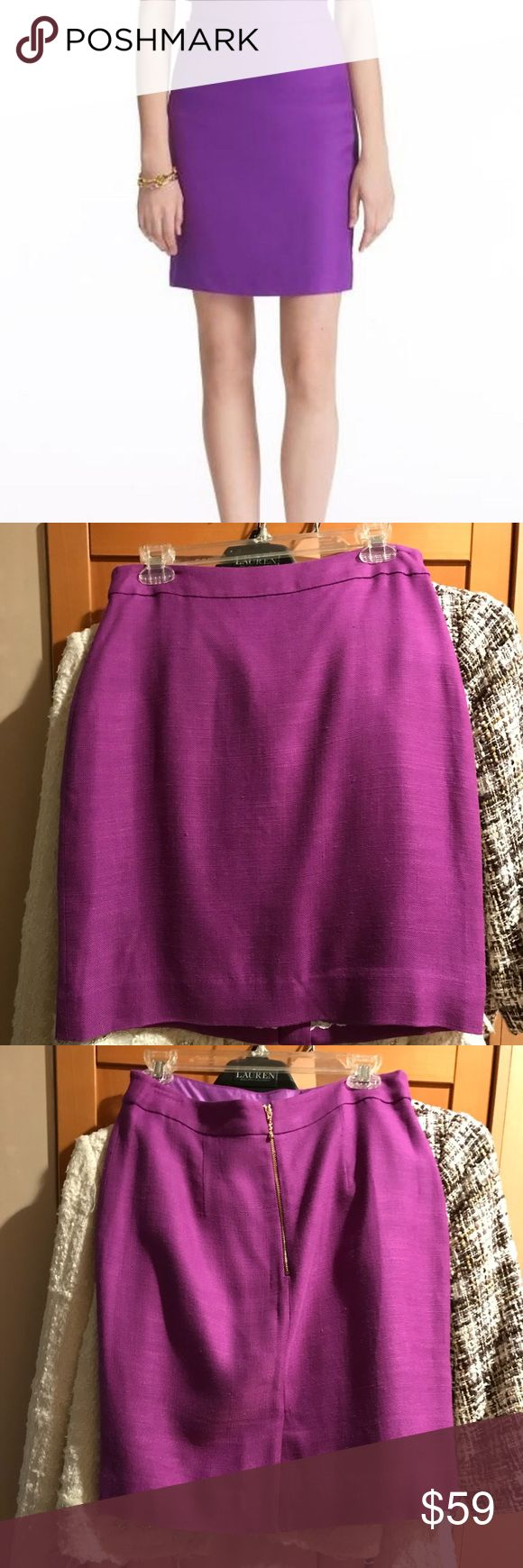 💯 Kate Spade Judy Skirt For work or for pleasure! You'll look radiant no matter where when you wear the Kate Spade Judy Skirt. Purple tweed. Exposed gold zipper down back center. Back vent. Darting details at back. Fully lined. Shell 100% viscose. Lining 100% polyester. Dry clean only. Full Retail Price $278 kate spade Skirts
