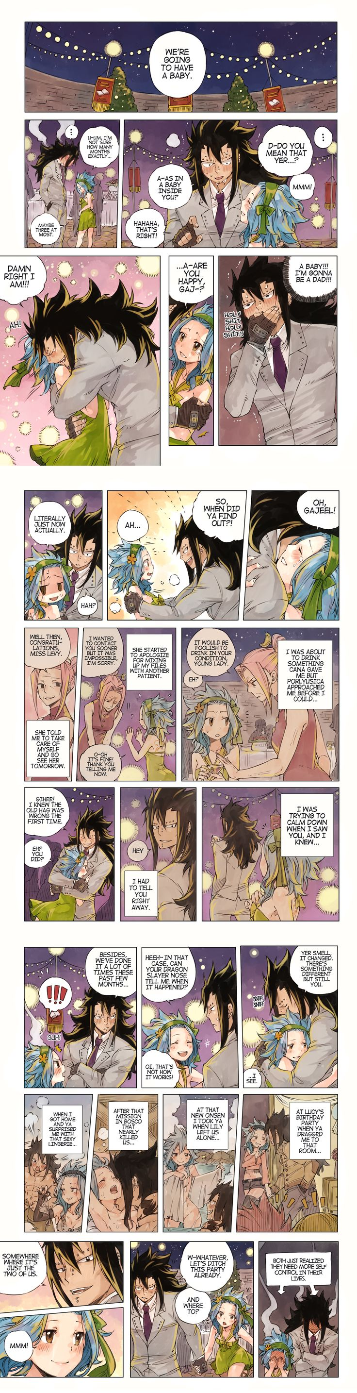Fairy Tail fan art by rboz | Gajevy; Our Future - ch. 545 bonus 1