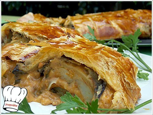 ΜΟΥΣΑΚΑΣ ΣΕ ΡΟΛΟ ΜΕ ΦΥΛΛΟ ΣΦΟΛΙΑΤΑΣ!!! | Νόστιμες Συνταγές της Γωγώς