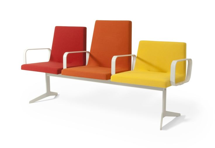 Red, Orange And Yellow Reception Chairs / ORDER NOW FROM SPACEIST