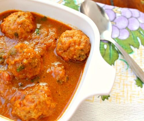 Indian Chicken Koftas - just serve with roasted cauliflower and jasmine rice and you have a delicious complete meal!