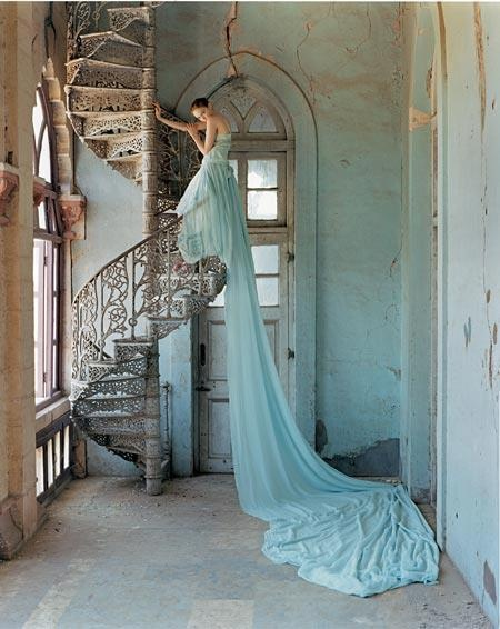hermosa escalera caracol