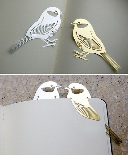 birds book marker by the style files, via Flickr