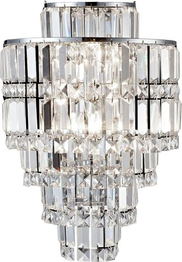 Wall Sconce Dale Tiffany Cathedral 3 Light Polished Chrome Solid Crystal Dy 1601 Contemporary Sconces Crystal Wall Sconces Wall Sconce Lighting