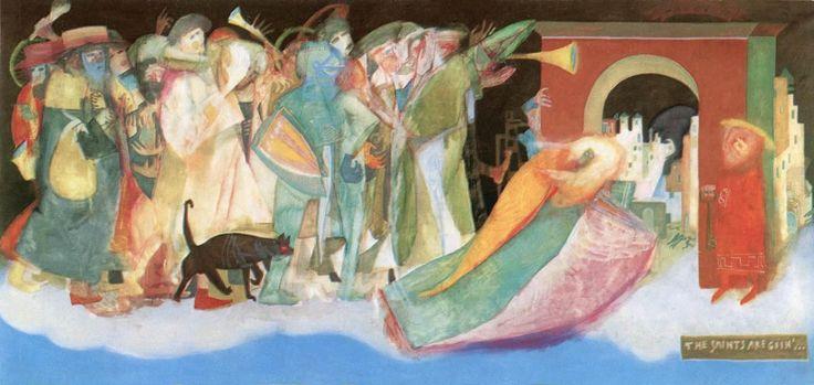 almost contemporary   Kondor, Béla (1931-1972)  The Saints are Goin'...