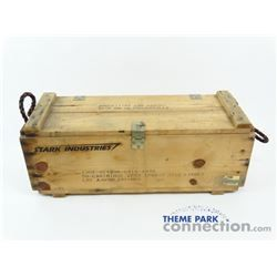Iron Man 2008 Marvel Movie Production Used Stark Industries Large Ammo Crate Set Dressing Prop