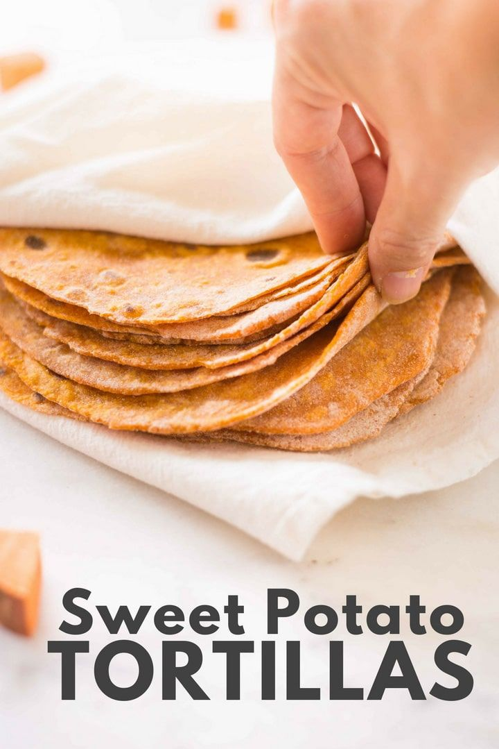Sweet Potato Tortillas | How to make sweet potato tortillas using just 3 ingredients! | A Sweet Pea Chef