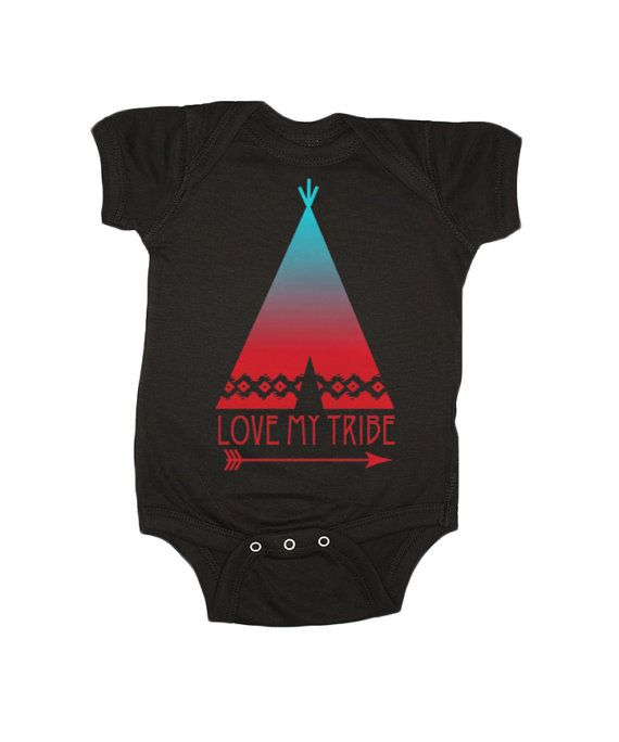 Love My Tribe Baby One Piece Infant Graphic by FeathersForeverShop #feather4arrow #onesie