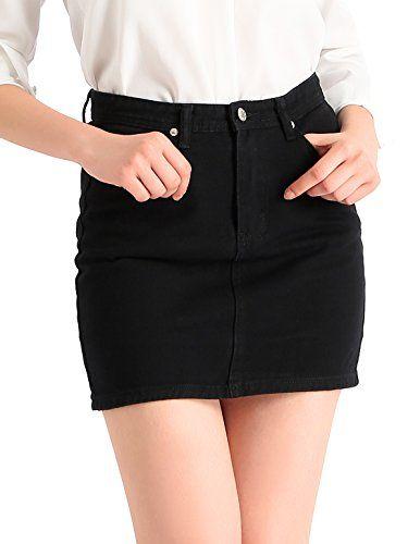 f30464fe3595 Beluring Womens Denim Jean Mini Skirt in 2019 | Skirts | Jean mini skirts, Mini  skirts, Denim skirt