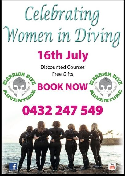 Ladies Only!  Women in Diving discounted courses offered by Warrior Dive Adventure