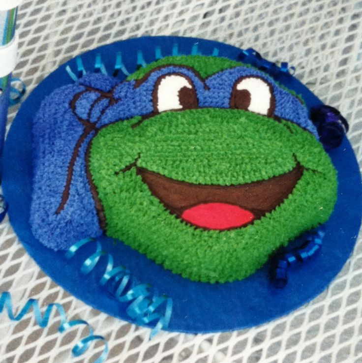 Teenage Mutant Ninga Turtle Cake